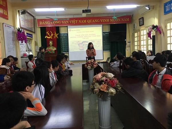 Hoạt động tham vấn học đường - Phòng chống xâm hại tình dục trẻ em.