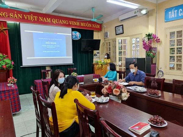 Trường thcs trung phụng tổ chức hội nghị cán bộ, công chức, viên chức năm học 2021-2022