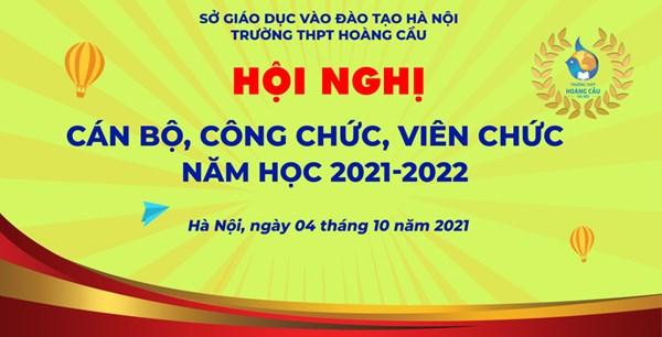 🗂📖🗂Hội nghị Cán bộ, Công chức, Viên chức năm học 2021-2022🗂📖🗂