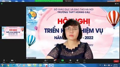 ✅🌼✅ Hội nghị triển khai nhiệm vụ năm học 2021 - 2022 trường THPT Hoàng Cầu✅🌼✅