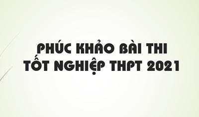 Phúc khảo bài thi Tốt nghiệp THPT 2021