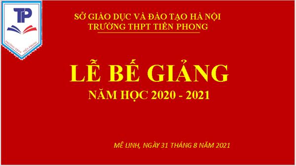 Bế giảng năm học 2020-2021